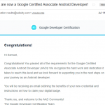 Lessons learned from passing the Associate Android Developer(AAD) certification by Google
