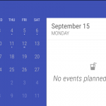 Creating Material Designed Event Calender