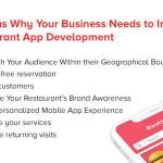 Why Restaurant Need Well-Executed Mobile App